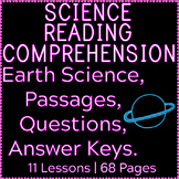Earth Science Reading Comprehension Passages & Questions |