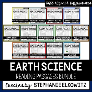 Earth Science Reading Passages Bundle