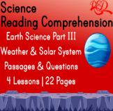 Earth Science Reading Passages | Weather & Solar System | Gr5-6