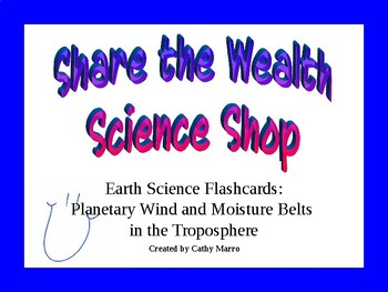Earth Science Reference Table Flashcards- Planetary Wind and Moisture Belts