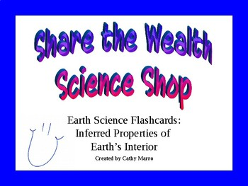 Earth Science Reference Table Flashcards- Properties of Earth's Interior