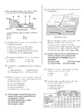 Earth Science Reference Table Test #1