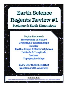 Earth Science Regents Review 1 - Prologue and Earth Dimensions