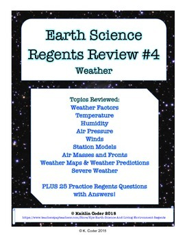 Earth Science Regents Review 4 - Weather