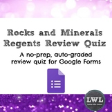 Earth Science Regents Review Quiz for Google Classroom-Roc