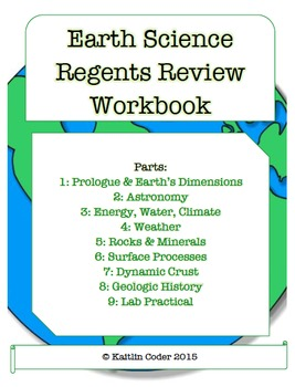 Earth Science Regents Review WORKBOOK (*EDITABLE* with Answers!)
