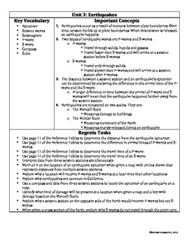 Earth Science Regents Teacher Guide and Student Review Notes // Full Year!