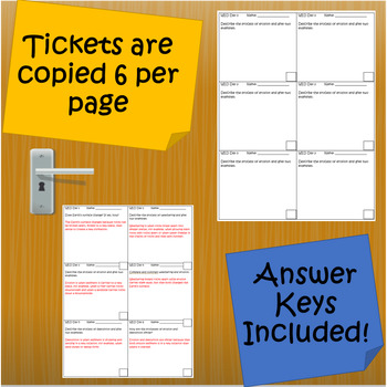 Earth Science Review- Exit Tickets Out The Door (Space, Rocks, Minerals, WED)