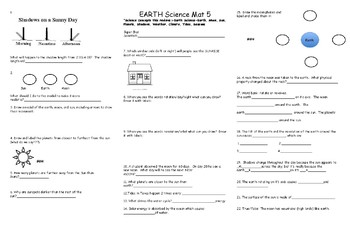 Earth Science Review Mat 5