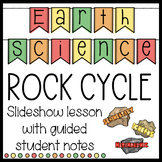 Earth Science Rock Cycle Slideshow with Guided Student Notes