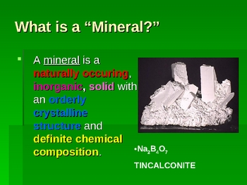 Earth Science: Rocks, Minerals, and Alloys