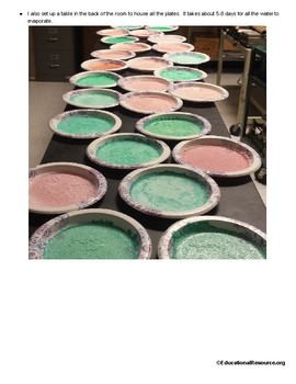 Earth Science Salt Crystal Formation Lab