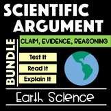 Earth Science Scientific Argument Bundle with Claim Evidence Reasoning
