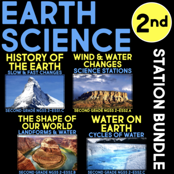 Earth Science BUNDLE - Second Grade Science Stations - NGSS