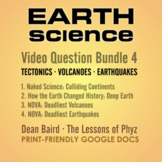 Earth Science Bundle 4: Tectonics, Volcanoes, and Earthquakes