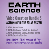 Earth Science Series 5: Astronomy in the Solar System