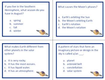 Solar System Written Assessment Questions
