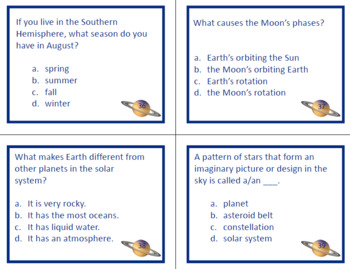 Solar System Written Assessment Questions