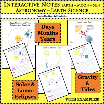 Interactive Notes Solar Lunar Eclipses Days Months Years Gravity Tides Astronomy