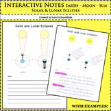 Interactive Notebook - Solar and Lunar Eclipses Notes