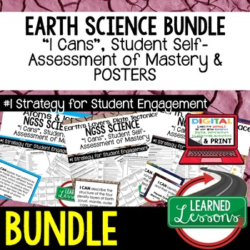 Earth Science Student Self-Asessment  I Cans BUNDLE (Earth Science BUNDLE)