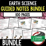 Earth Science Student & Teacher Guided Notes (Earth Science BUNDLE)