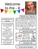 Pre-K Meet the Teacher FREEBIE *Editable*