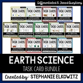 Earth Science Task Card Differentiated and Tiered Bundle
