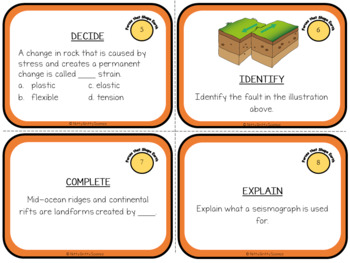 Forces that Shape the Earth: Earth Science Task Cards