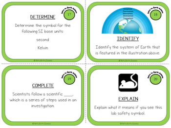 Intro to Earth Science: Earth Science Task Cards