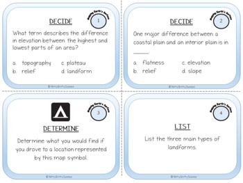 Mapping Earth's Surface: Earth Science Task Cards