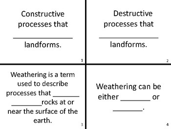 Earth Science Task Cards Test Prep Review Activity Game