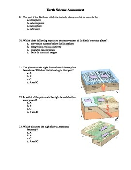 Earth Science Test - Plate Tectonics