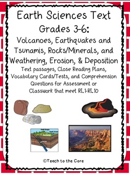 Earth Science Text Passages for Close Reading Grades 3-6
