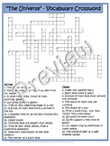 Earth Science ~The Universe~ Crossword Puzzle - Special Ed