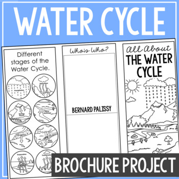 THE WATER CYCLE Earth Science Research Brochure Template Project