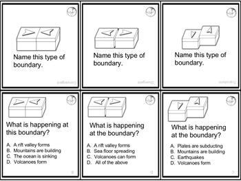 Earth Science Themed Board Game - Pre-Written & Editable Cards