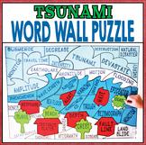 Earth Science Natural Disasters - Tsunami Word Wall Puzzle