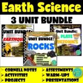 Rocks & Minerals, Plate Tectonics, & Earthquakes UNIT BUNDLES- Earth Science