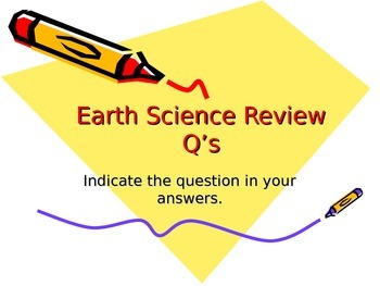 Earth Science Unit Review Questions Lesson 18
