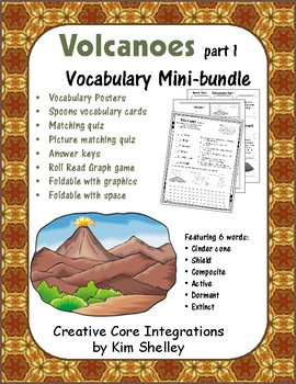 Earth Science VOLCANOES 1 Vocabulary Mini-bundle