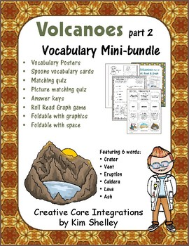 Earth Science VOLCANOES 2 Vocabulary Mini-bundle