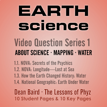 Earth Science Series 1: Science, Mapping, and Water