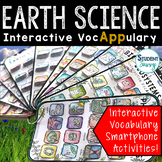 Earth Science Vocabulary Activities - Interactive VocAPPulary™