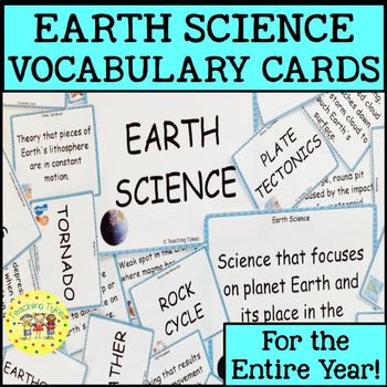 Earth Science Vocabulary Cards
