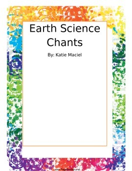 Earth Science Vocabulary Chants