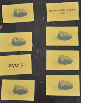 Earth Science Vocabulary Matching Game