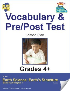 Earth Science Vocabulary & Pre/Post Test