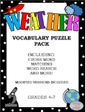Earth Science Vocabulary Puzzle Pack (Weather)