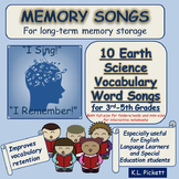 Earth Science Vocabulary Word Songs for Third to Fifth Grades